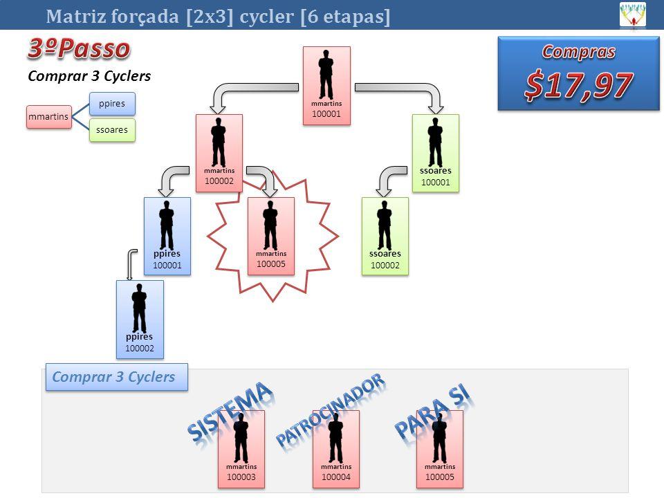 $17,97 3ºPasso Sistema Para si Matriz forçada [2x3] cycler [6 etapas]